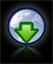 down arrow green with globe copy